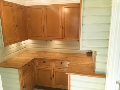 Shiplap with custom flush inset cabinetry